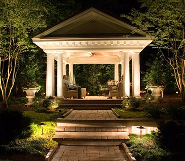Outdoor Landscape Lighting in Falls Church, Virginia