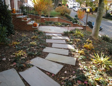 Flagstone steppers in North Arlington.