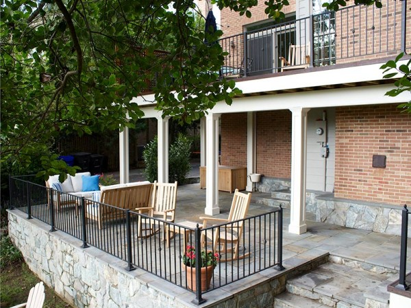 Multi-Level Patio and Deck Design in North Arlington, VA