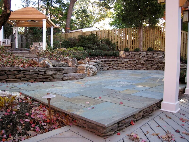 Two-Tiered Patio | Northern Virginia Tiered Patio Designs on Tiered Patio Ideas id=17621