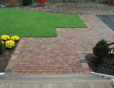 Paver walkway in North Arlington.