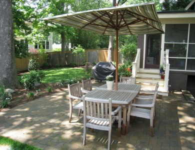 Paver patio in North Arlington.