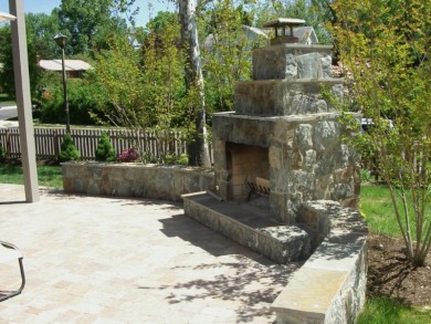 Outdoor Fireplaces in Great Falls, Virginia