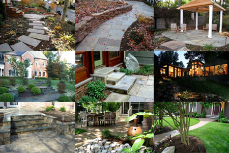 View our gallery of all our work featuring patios, walkways, plant installation, walls, steps, and more.