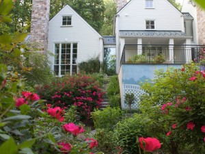 Landscaping renovation and colorful plantings