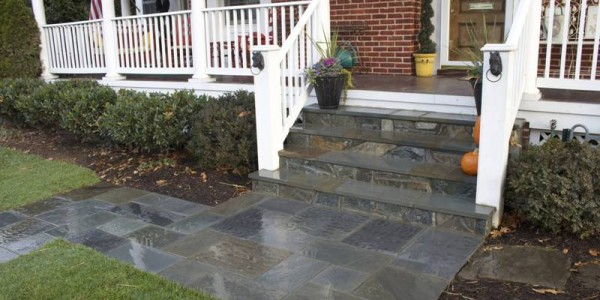 Flagstone Steps, Walkway and Landings in North Arlington, VA