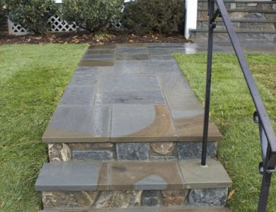 Flagstone Steps, Walkway in North Arlington, VA