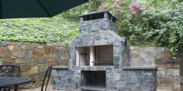 Stone Fireplace and Grill, North Arlington VA