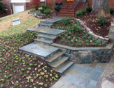 Flagstone Steps, Walkway and Landings in McLean VA