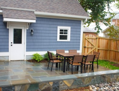 Flagstone Patio and Seating Wall, McLean VA
