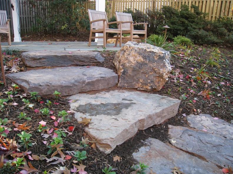 Large Stone Stepper Walkway Northern Virginia