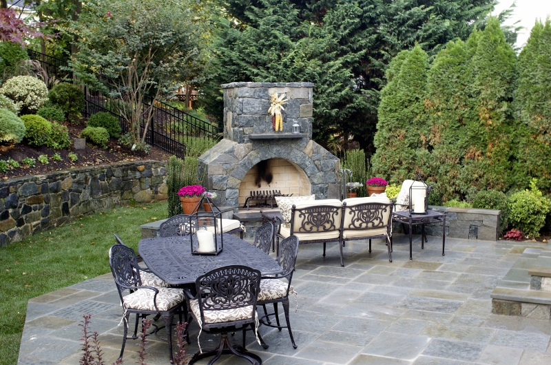 Flagstone Patio and Fireplace Northern Virginia