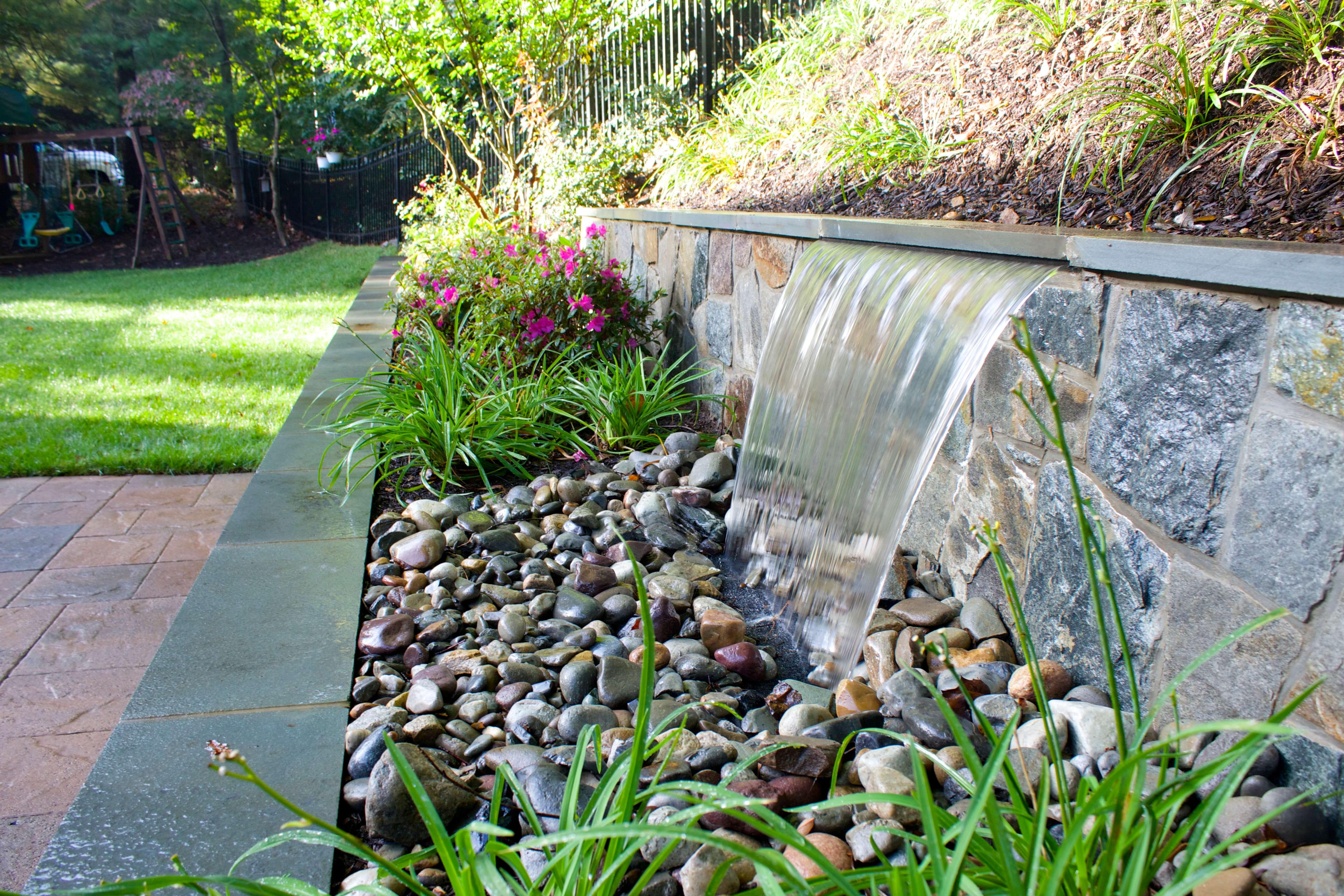 Backyard Landscape Design in Arlington, VA | Large Patio ...