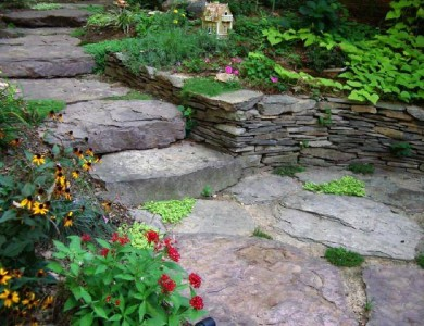 Garden Walkway & Steps Design and installation in Great Falls, VA