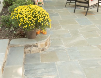 Best Landscape in Arlington, VA – Flagstone Patio and Retaining Walls