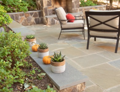 Landscaping In Arlington, VA  – Patio, Fireplace, Outdoor Kitchen and Retaining Walls