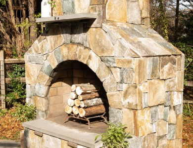 Stone Fireplace design and installation in Northern Virginia