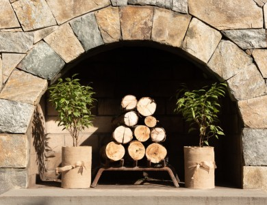 Gorgeous Masonry Outdoor Fireplace in Vienna, VA