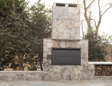 Braai Grill Stone Fireplace Northern Virginia
