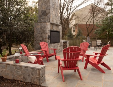 Northern Virginia Landscaping – Outdoor stone grill, patio and retaining walls