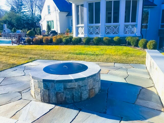 fire pit design and installation in McLean, Virginia