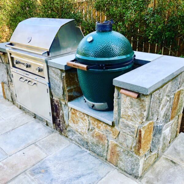 Green Egg outdoor kitchen