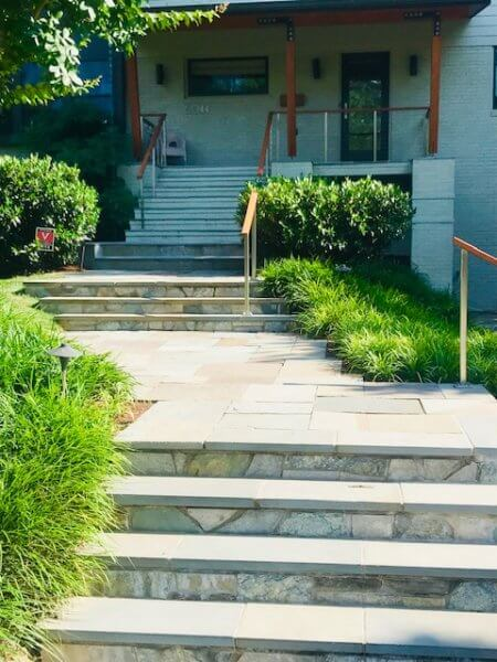 Flagstone Walkway with steps and landings