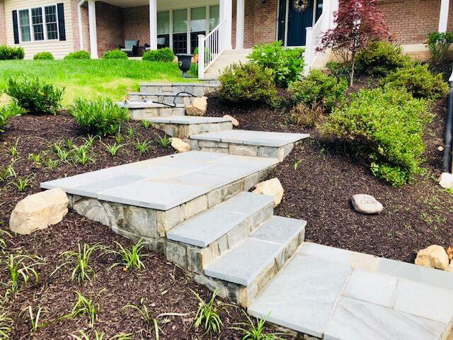 Walkways with steps in Arlington