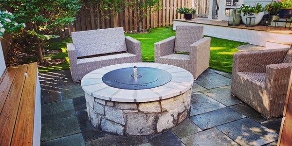 North Arlington Fire Pit and Patio Design